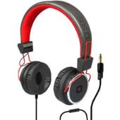 SBS Cuffia Stereo STUDIO MIX DJ, jack 3,5 mm con microfono e tasto alla risposta, colore rosso