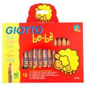 Giotto Bebe' Matitoni+appuntamatitone, 12 pezzi