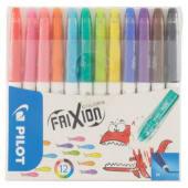 Pilot Frixion Colors Pennarelli cancellabili con gommino integrato sul cappuccio, 12 pezzi