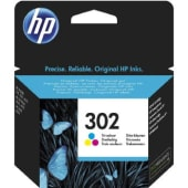 HP Cartuccia d'inchiostro 302, giallo, ciano, magenta