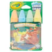 Crayola Gessi lavabili per esterno, colori brillanti, 4 pezzi