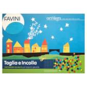 Favini Taglia e Incolla Cartoncino colorato, 16 fogli