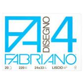 Fabriano Album da disegno F4, 20 fogli lisci, 24x33 cm, 200 grammi
