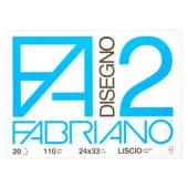 Fabriano Album da disegno F2, 20 fogli lisci, 24x33 cm, 110 grammi