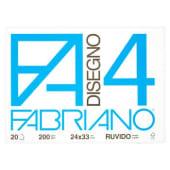 Fabriano Album da disegno F4, 20 fogli ruvidi, 24x33 cm, 200 grammi