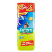 Pampers, Sole e Luna taglia 5 junior (11-25 Kg) conf. 36 + 2 gratis