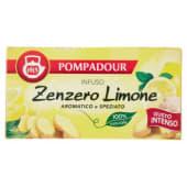 Pompadour, infuso zenzero e limone 20 filtri 38 g