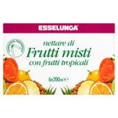 Esselunga, nettare di frutti misti con frutti tropicali conf. 6x200 ml