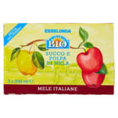 Esselunga Bio, succo e polpa di mela biologico conf. 3x200 ml