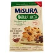 Misura, Natura Ricca biscotti con gocce di cioccolato amaranto e semi di lino 250 g