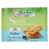 Mulino Bianco, Senza Zuccheri Aggiunti frollini con farina integrale e gocce di cioccolato conf. 8x25 g