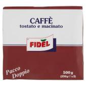 Fidel, caffè tostato e macinato conf. 2x250 g