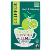 Clipper, Lime & Ginger Green Tea 20 filtri 40 g