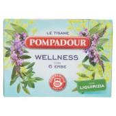 Pompadour, Le Tisane Wellness 6 erbe 15 filtri 30 g