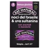Eat Natural, Fruits & Nuts noci del brasile e uva sultanina senza glutine barrette conf. 4x30 g