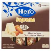 Hero, MueslySupreme mandorle e cioccolato bianco barrette conf. 4x24 g