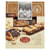 Fuchs, Premium barretta al cioccolato con arachidi e mandorle conf. 4x32 g