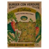 Cottin Tavola, il Delicato burger con verdure conf. 2x120 g + bustine di salsa conf. 2x15 g