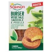 Sojasun, burger vegetale taccole e piselli conf. 2x100 g