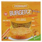 Zerbinati, Burger'Z quinoa carote al profumo di zenzero conf. 2x110 g