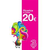 3 Ricarica telefonica virtuale da 20 Euro
