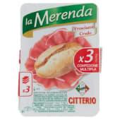 Citterio, La Merenda prosciutto crudo conf. 3x30 g