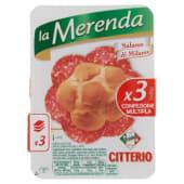 Citterio, La Merenda salame di Milano conf. 3x30 g