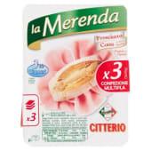 Citterio, La Merenda prosciutto cotto conf. 3x40 g