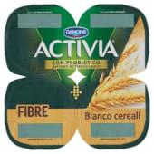 Danone, Activia Fibre latte fermentato Bianco ai cereali conf. 4x125 g, bianco/cereali