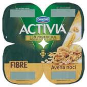 Danone, Activia Fibre latte fermentato all'avena e noci conf. 4X125 g, avena/noci