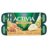 Danone, Activia Fibre latte fermentato avena noci/pera cereali/kiwi cereali/bianco cereali conf. 8x125 g