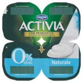 Danone, Activia Zero latte fermentato naturale conf. 4x125 g, bianco naturale