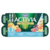Danone, Activia Zero Grassi latte fermentato ananas/frutti di bosco/fragola/pesca conf. 8x125 g