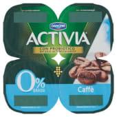 Danone, Activia 0% Grassi latte fermentato ai caffè conf. 4x125 g, caffe'