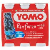 Yomo, Rinforzo latte fermentato ai mirtilli neri conf. 6x90 g, mirtillo