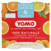 Yomo, 100% Naturale yogurt agli agrumi di Sicilia conf. 4x125 g