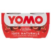 Yomo, 100% Naturale yogurt alle ciliegie e amarene conf. 2x125 g