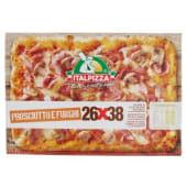 Italpizza, 26x38 cm pizza Prosciutto e Funghi surgelata 545 g