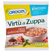 Orogel, Il Benessere virtù di zuppa ceci e lenticchie nere surgelate 500 g