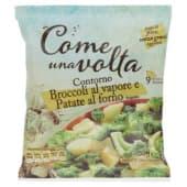 Come una volta, contorno broccoli al vapore e patate al forno surgelato 450 g