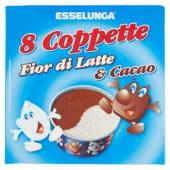 Esselunga, coppette fior di latte & cacao 8 pezzi 400 g