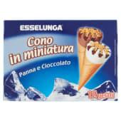 Esselunga, cono in miniatura panna e cioccolato 12 pezzi 225 g