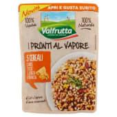 Valfrutta, I Pronti al Vapore 5 Cereali carote zucca e scorza d'arancia 220 g