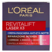 L'Oréal Paris, Revitalift Laser X3 crema-maschera anti-età notte 50 ml