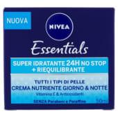 Nivea, Essentials Super Idratante 24H No Stop + Riequilibrante crema nutriente giorno & notte 50 ml