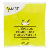Smart, Crêpes al pomodoro e mozzarella surgelate 8 pezzi 450 g