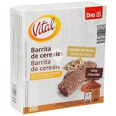 Barritas de cereales salvado de avena sabor chocolate caja 6 uds 180 gr