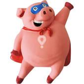 Juguete para perro modelo cerdo de latex