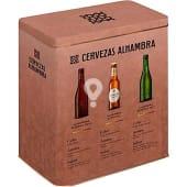 Estuche latón 6 botellas (2 Alhambra Reserva botella 33cl + 2 Alhambra Reserva Roja botella 33 cl + 2 Alhambra Especial botella 33cl)