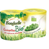 Guisantes ecológicos pack 2 lata 130 g neto escurrido